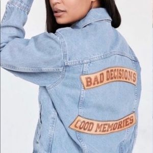Urban Outfitter Bad Decisions Denim Jacket